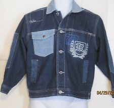 RAW BLUE Brand Blue Embroidered Denim Jacket Mens Small j112