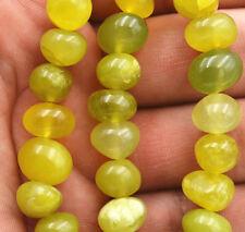 "Irregular 8x10mm natural  Peridot Gemstone loose beads 15 """