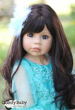 "NWT Masterpiece Dolls Jasmine Brunette Blue Eyes Monika Levenig 11 Joints 39"""