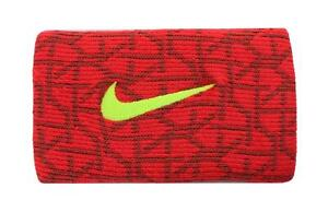 Nike Dri-Fit Baseball Doublewide Wristbands University Red-Volt