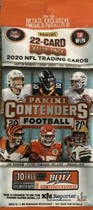 2020 Panini NFL Contenders Football Factory NEW & SEALED 22 Card Cello Fat Pack