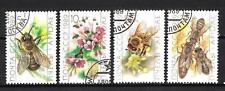 Insectes Russie (32) série complète de 4 timbres oblitérés