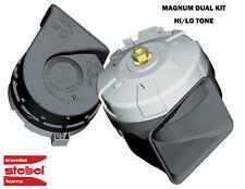 STEBEL MAGNUM HI-POWER DUAL ELECTRIC HORNS - 12V HIGH/LOW TONES - 115dba/136dB!