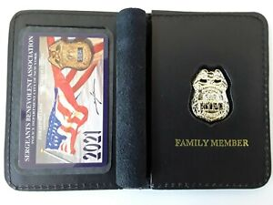 1 2021 SBA PBA CARD WITH LEATHER FAMILY MEMBER WALLET NOT DEA CEA LBA