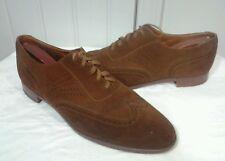 Mens Ralph Lauren Polo Shoes SZ 13 B Benchmade Oxford Wingtip Suede Brogue Dress