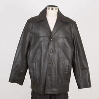 Men's Winter Leather Jacket Size XL Black WILSONS M. JULIAN