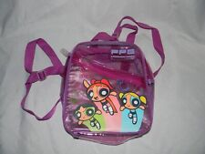 Power Puff Girls Clear Sparkly Purple Mini PVC Backpack from 2001