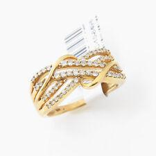NYJEWEL 10k Solid Gold Brand New 1ct Diamond Wedding Anniversary Band Ring