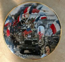 The Liberation Of Paris Plate William Teodecki Limited Edition #F2958 w/ Coa