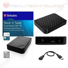 """HARD DISK ESTERNO 3,5"""" 47685 1TB-2TB-3TB-4TB VERBATIM  3.0 HD PER PC TV CONSOLE"""