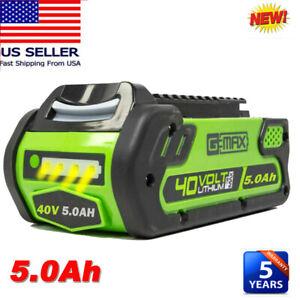 29472 For Greenworks 40V Lithium G-MAX Battery 29462 29482 29252 20202 Cordless