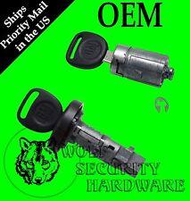 GM Ignition Key Switch Lock Cylinder & Single Door Set 709271 709273 2 GM Keys