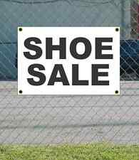 2x3 SHOE SALE Black & White Banner Sign NEW Discount Size & Price FREE SHIP