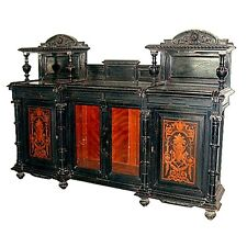 Antique Inlaid & Ebonized Victorian Credenza c. 1880 #5423
