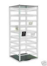 Acrylic Rotating Earring Display Stand Revolving Countertop Holds 144 Cards