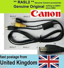 Genuine Original Canon AV cable AVC-DC400 IXUS 125 90 970 iS,550D 500D 60D 600D