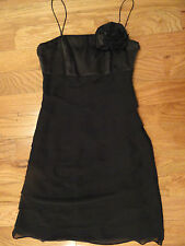 WHITE HOUSE BLACK MARKET HOMECOMING HOLIDAY SPECIAL OCCASION BLACK DRESS SZ 0