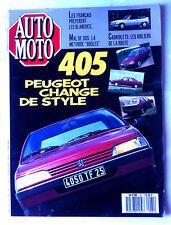 Auto Moto du 6/1987; Peugeot 405/ Cabriolets/ R11 GT/ Volvo 340/360/ Transalp Ho