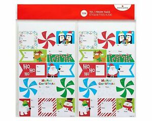 American Greetings Christmas Fun To and From Sticker Sheets, 8 Count (104 Total)
