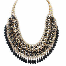 Fashion Charm Jewelry Chain Pendant Crystal Choker Chunky Statement Bib Necklace