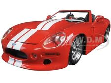 SHELBY SERIES 1 RED WITH WHITE STRIPES 1:18 DIECAST MODEL CAR BY MAISTO 31142
