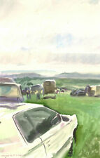 Howard J. Morgan (b.1949) - Signed 2007 Watercolour, Cars at Marden, Kent