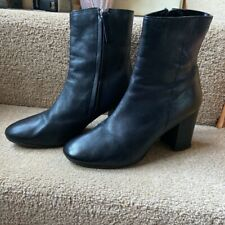 Topshop Black Leather Boots Size 6