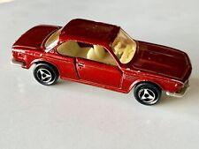 VINTAGE 1970s MAJORETTE BMW 3.0 CSi RED/MAROON DIECAST - EXCELLENT CONDITION