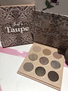 Colourpop That's Taupe Pressed Powder Eyeshadow Palette New In Box!