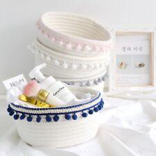 Cotton Rope Storage Baskets Handmade Woven Dirty Clothes Toy Desktop Organizer