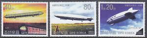 Korea (N) - 2002 - MNH - (Stamp 4521-4523) Zeppelin