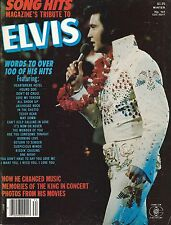 MAGAZINE HOMMAGE 100% ELVIS PRESLEY-USA 1977-SONG HITS- PAROLES DE 100 HITS !