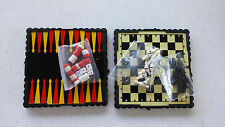 Folding Magnetic Travel Games Chess Backgammon New Minor wear Kids Free Ship