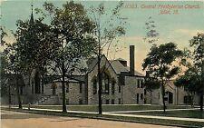 Vintage Postcard Central Presbyterian Church Joliet IL Will County