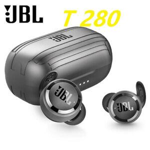 NEW T280 TWS Wireless Bluetooth 5.0 Sports Earphones Stereo Earbuds Bass--