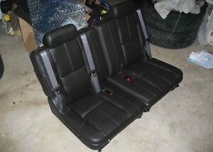 07-14 Chevy Tahoe Suburban GMC Yukon XL 3rd Row Seats Ebony Black Leather Third
