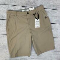 Croft & Barrow Khaki Bermuda Shorts sz 6 Perfectly Slimming Mid Rise NWT New