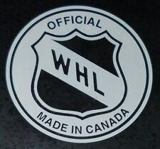 TRI CITY AMERICANS VINTAGE WHL SHIELD OFFICIAL INGLASCO PRO CANADA HOCKEY PUCK