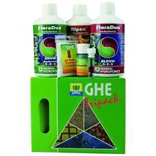 GHE Tripack FloraDuo/Ripen Starterset hartes Wasser Flora Series Dünger pH-Kit