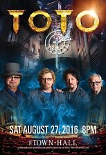 TOTO 2016 NEW YORK CITY CONCERT TOUR POSTER - Rock, Pop, Jazz Fusion Music