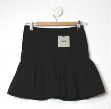 ASOS Black Skirt Flared Ruffle Size UK 10 BRAND NEW TAGS