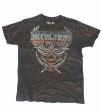 XL Affliction Brown Black Tour Storm Short Sleeve Men's T-Shirt        B35