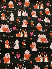Pembroke Welsh CORGI Valentine Fabric DOGS CATS By the Half Yard 100% Cotton