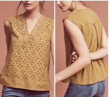 New With Tag Anthropologie By Akemi Kin Gold Cadiz Tunic Top Med Size. $78 Retai