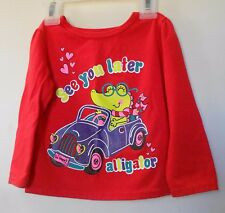 Garanimals. Toddler Girls. Red long sleeve pull over top Size 18M