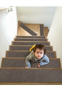 7 Pack Non Slip Carpet Stair Treads-6''x30'',Stair Treads for Safety and Easy