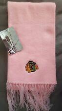 New NHL Blackhawks SCARF pink embroidered licensed