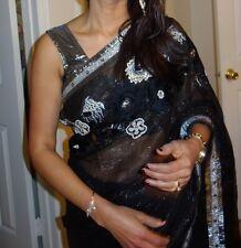 INDIAN FESTIVAL PARTY WEAR FANCY FABRIC SAREE DESIGNER BOLLYWOOD WOMEN SARI