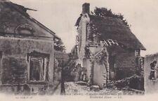 CPA 51 PUISIEULX (Marne) Maison coupée en deux par un obus Guerre de 1914-1916