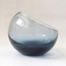Bowl Blue Vintage Original Art Glass